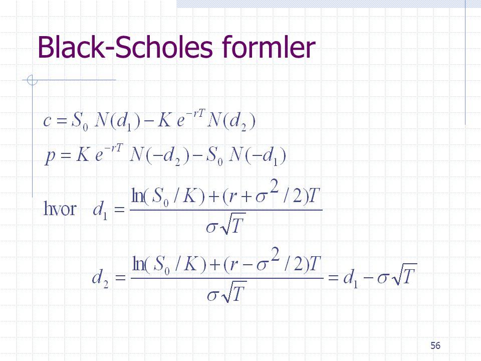 Black-Scholes formler