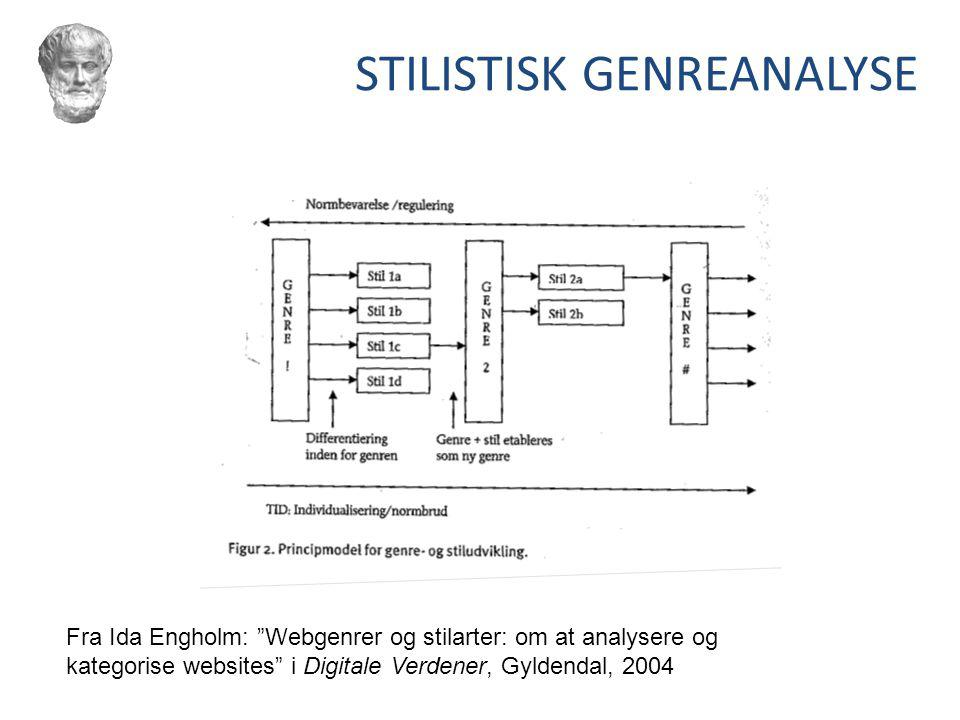STILISTISK GENREANALYSE