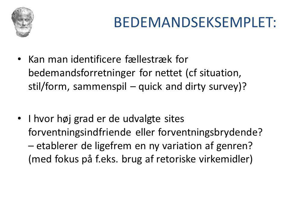 BEDEMANDSEKSEMPLET:
