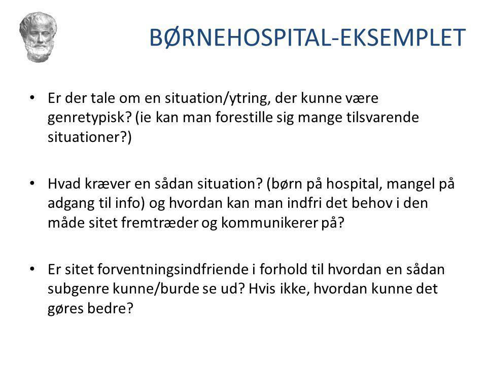 BØRNEHOSPITAL-EKSEMPLET