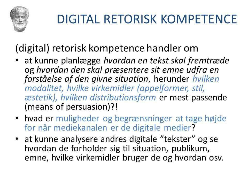 DIGITAL RETORISK KOMPETENCE
