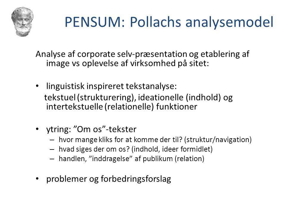 PENSUM: Pollachs analysemodel