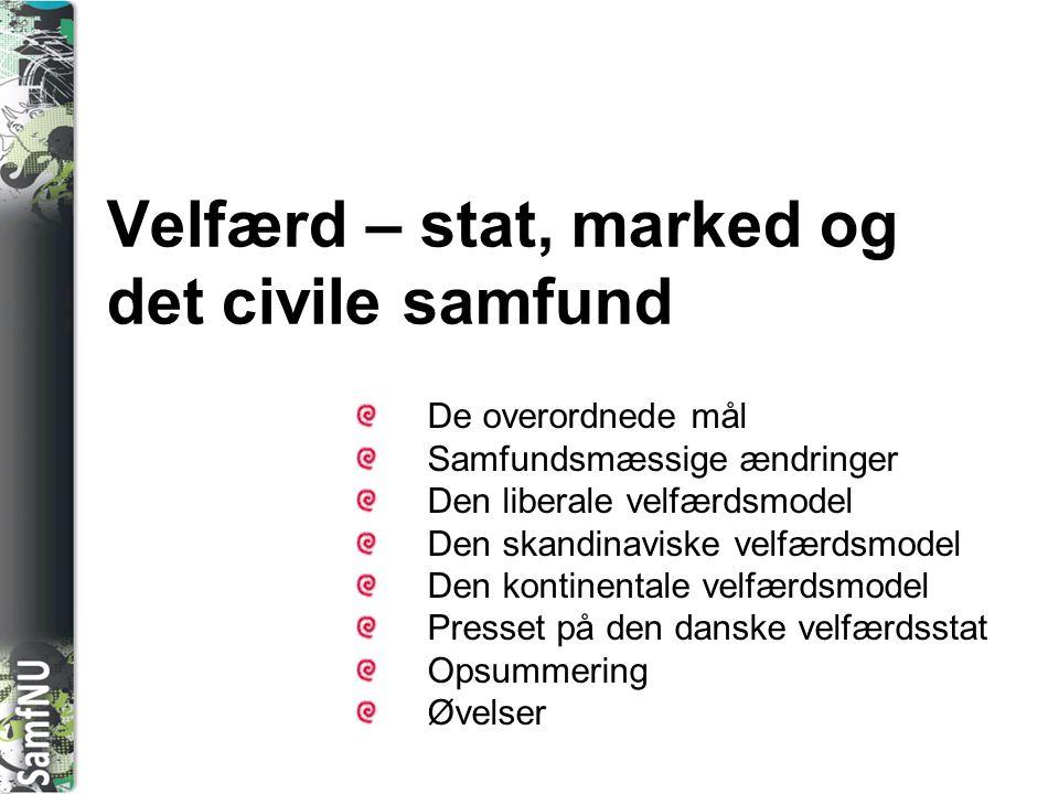 Velfærd – stat, marked og det civile samfund