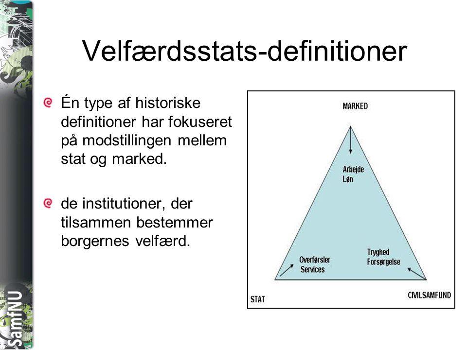 Velfærdsstats-definitioner