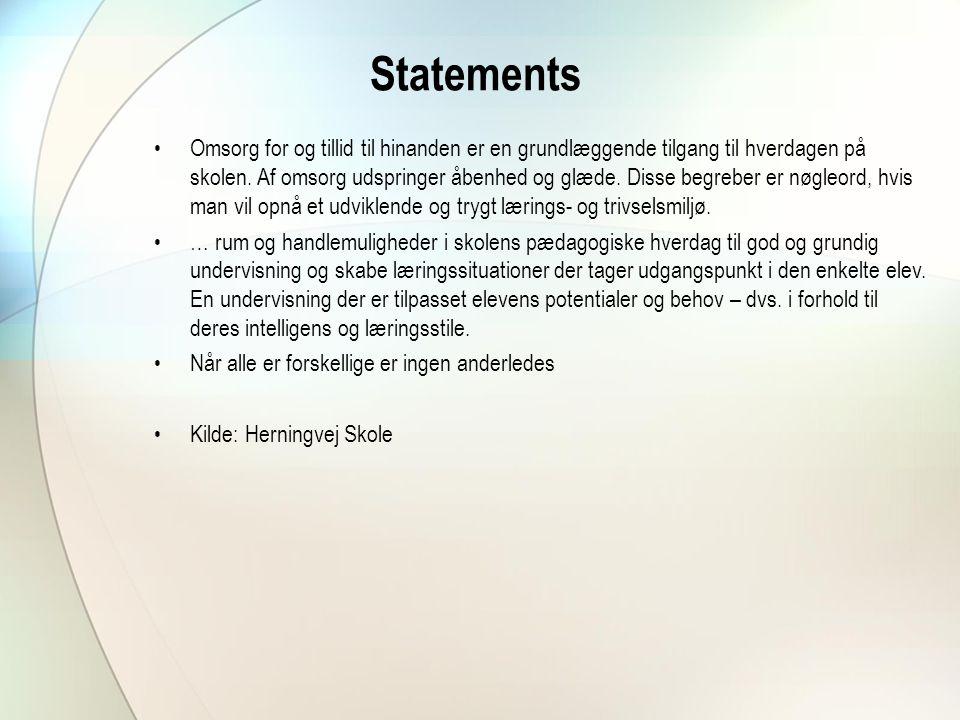 Statements
