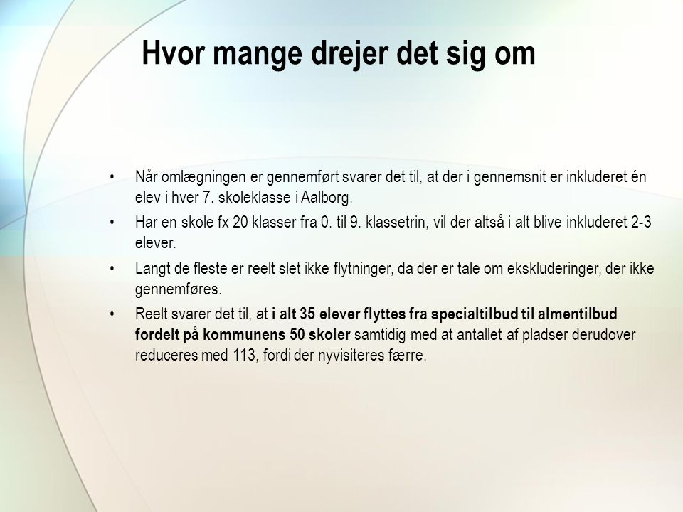 Inklusion i Aalborg. - ppt download