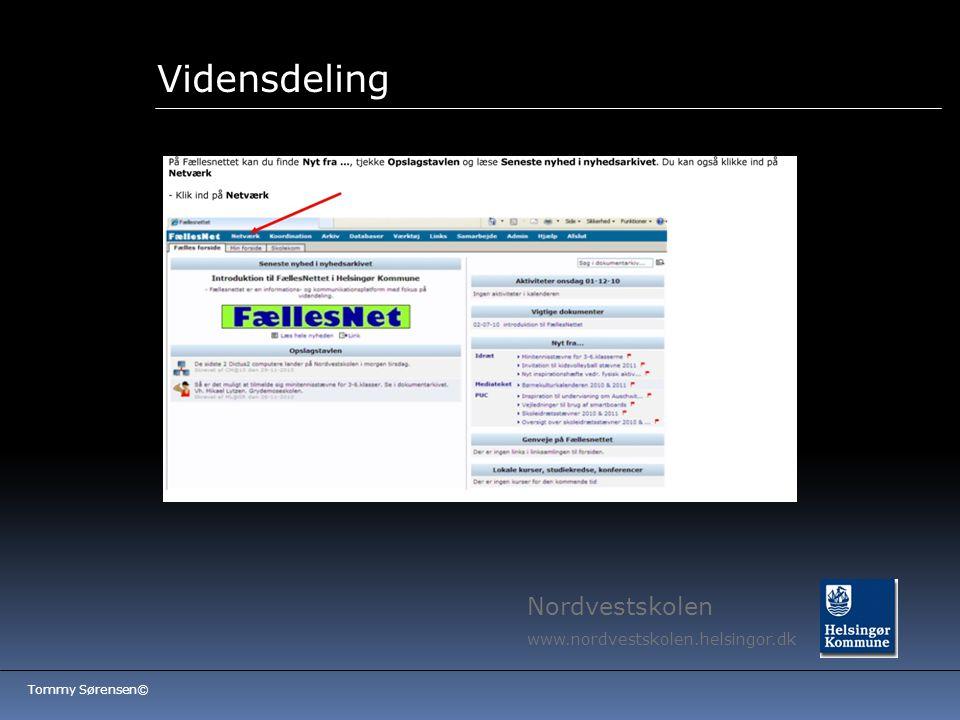 Vidensdeling Nordvestskolen www.nordvestskolen.helsingor.dk