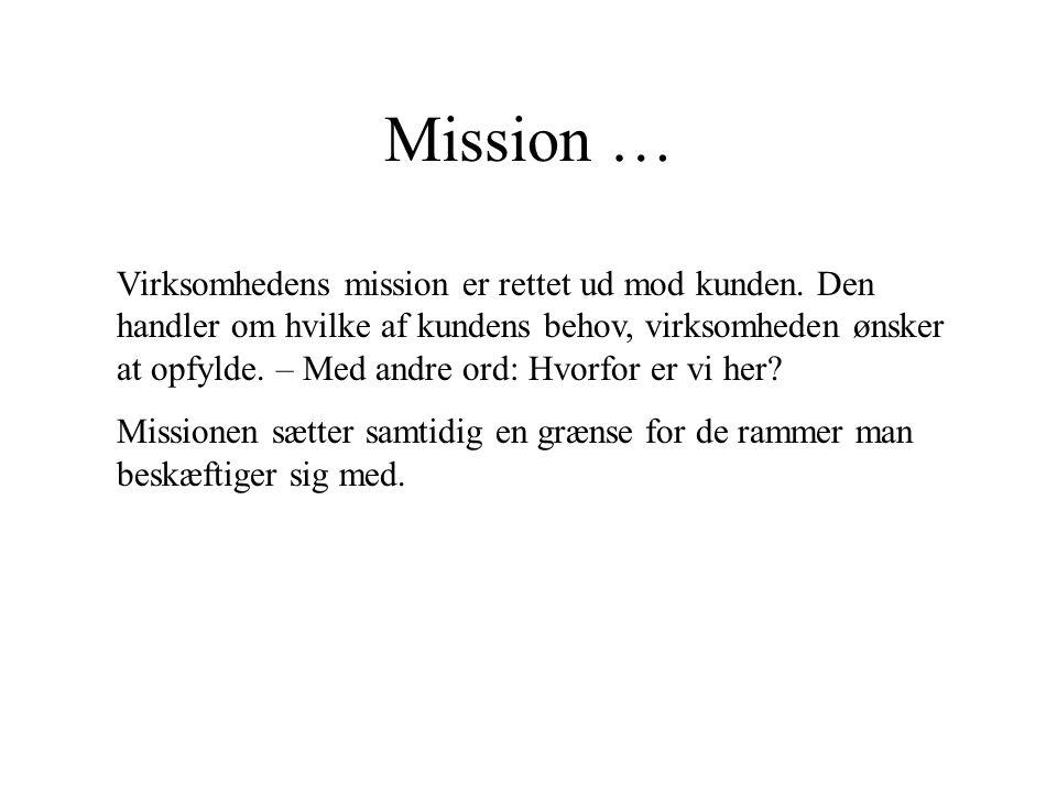 Mission …