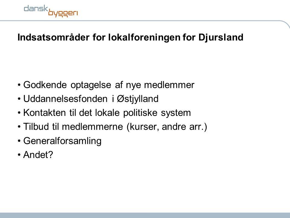 Indsatsområder for lokalforeningen for Djursland