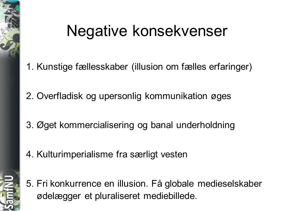Negative konsekvenser