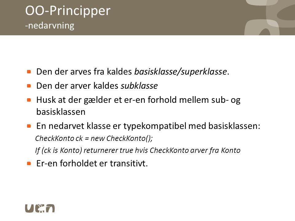 OO-Principper -nedarvning