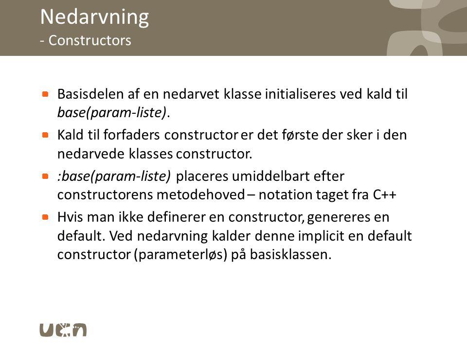 Nedarvning - Constructors