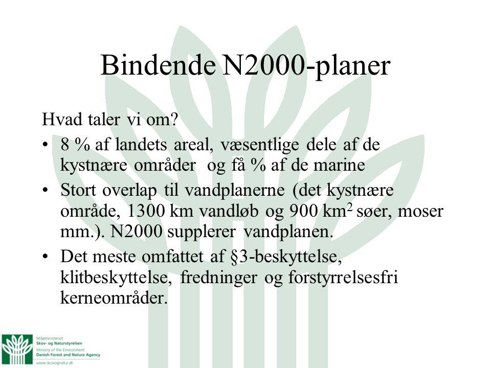 Bindende N2000-planer Hvad taler vi om