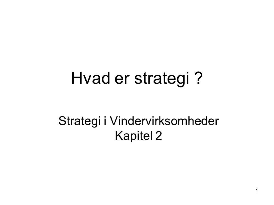 Strategi i Vindervirksomheder Kapitel 2