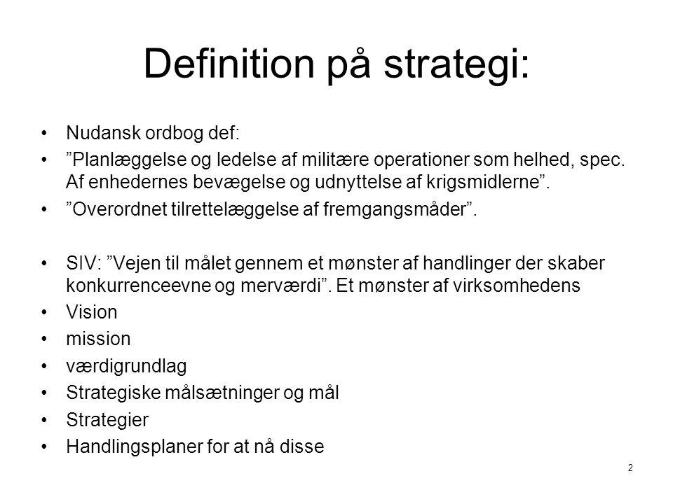 Definition på strategi:
