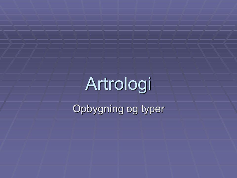 Artrologi Opbygning og typer