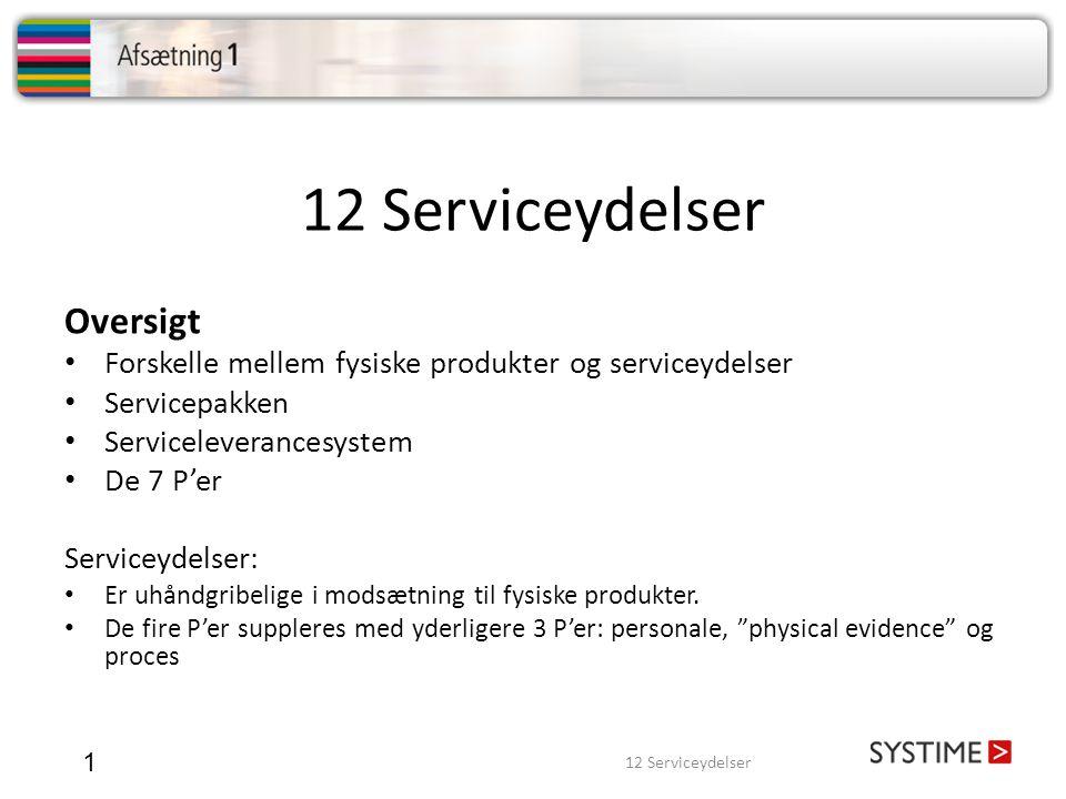 12 Serviceydelser Oversigt