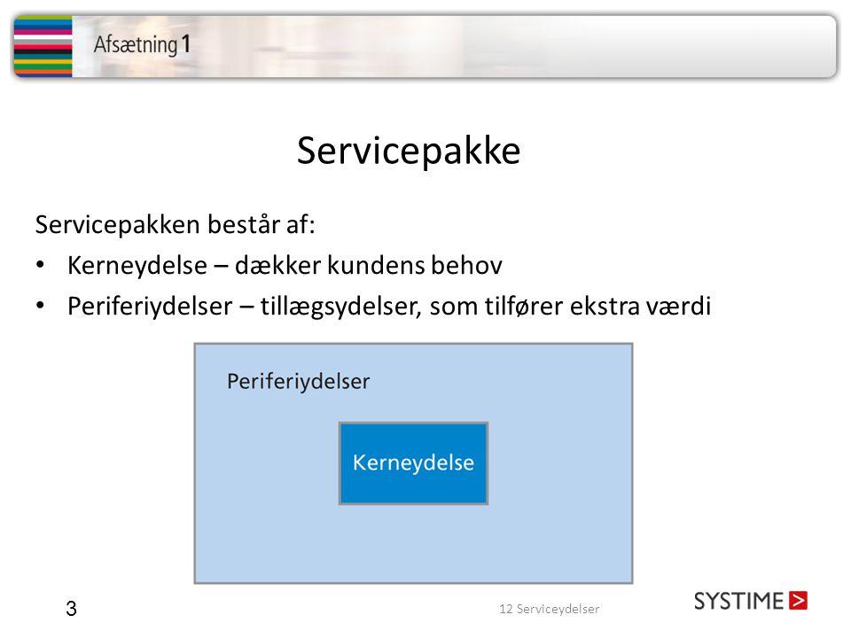 Servicepakke Servicepakken består af: