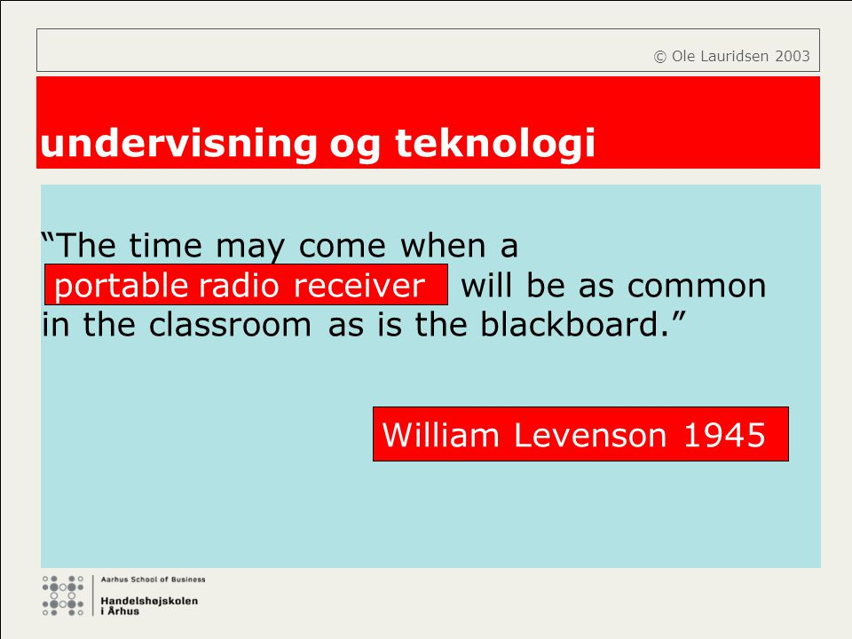 undervisning og teknologi