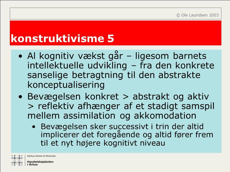 © Ole Lauridsen 2003 konstruktivisme 5.