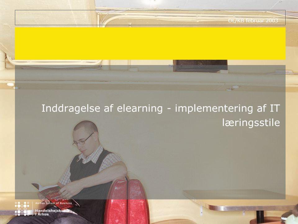Inddragelse af elearning - implementering af IT læringsstile