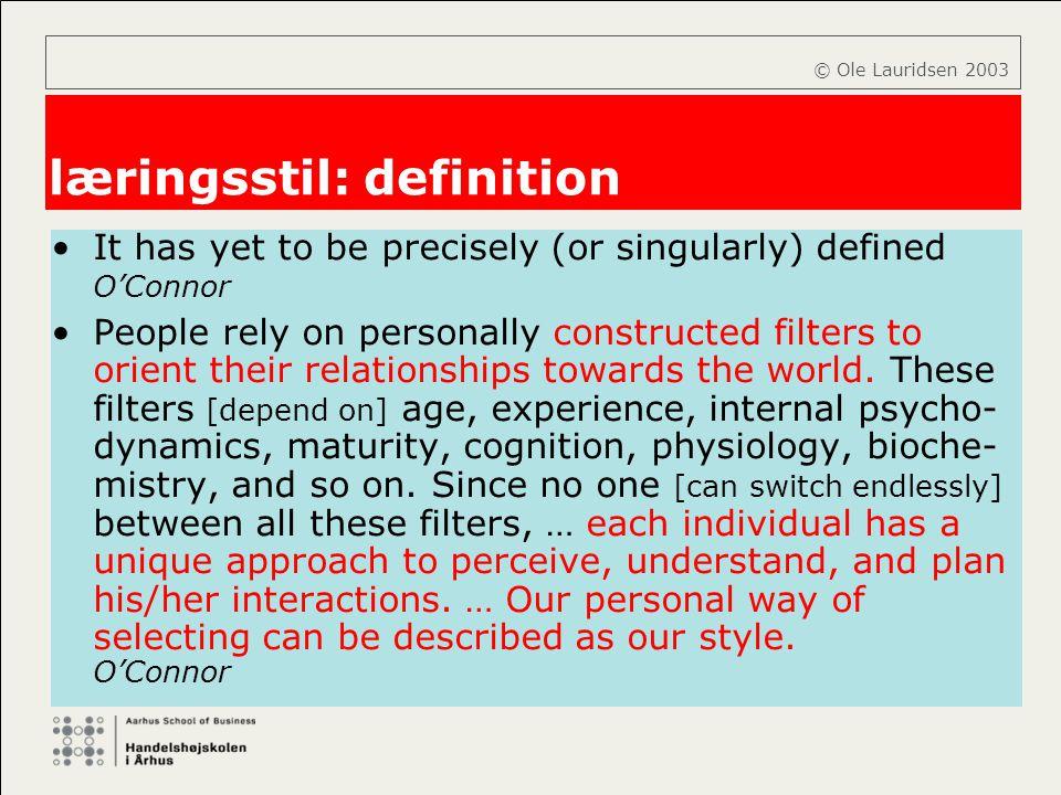 læringsstil: definition