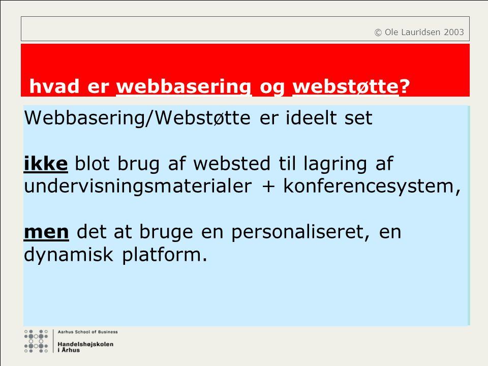 hvad er webbasering og webstøtte
