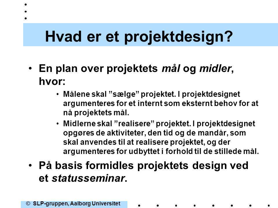 Hvad er et projektdesign