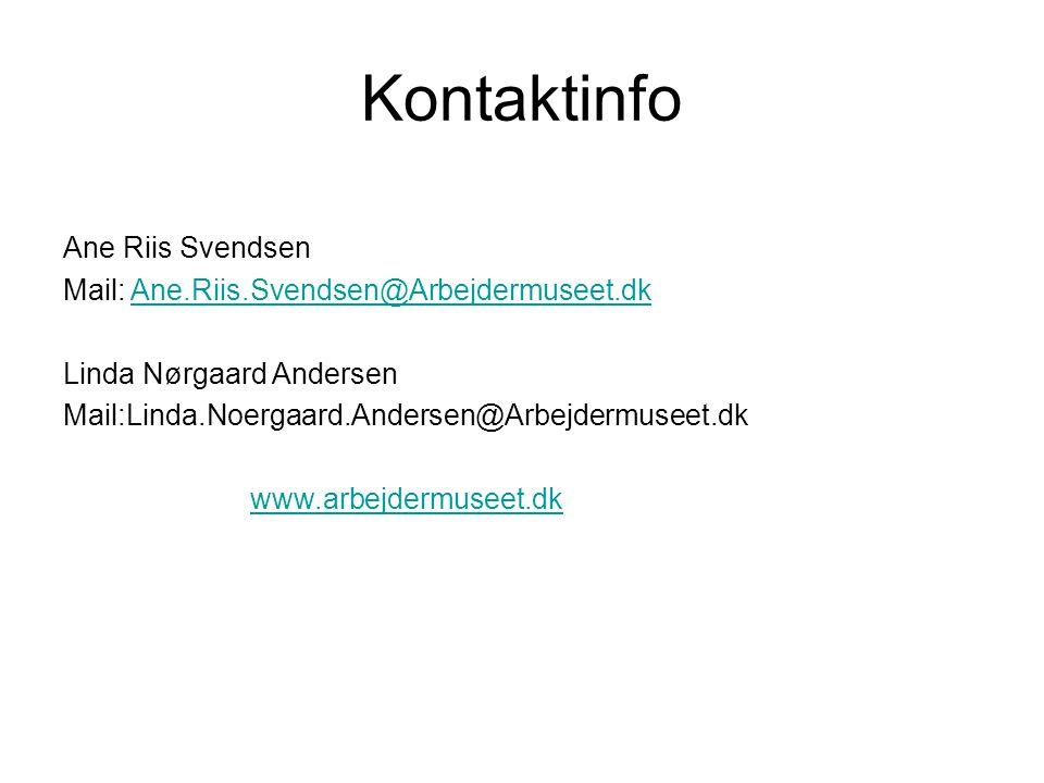 Kontaktinfo Ane Riis Svendsen