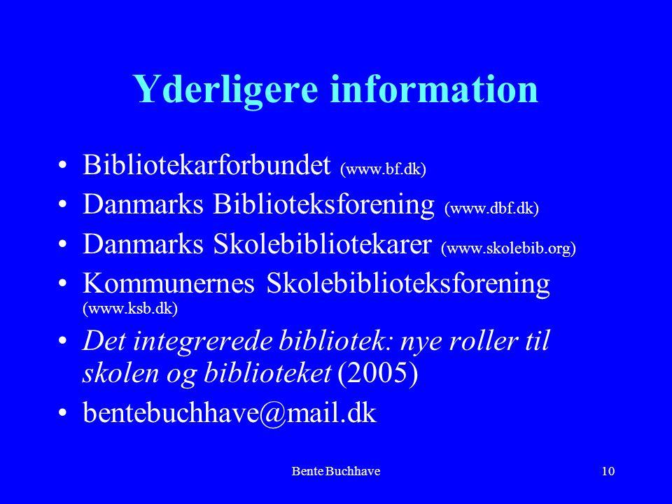 Yderligere information