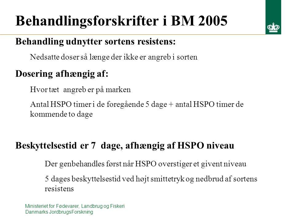 Behandlingsforskrifter i BM 2005