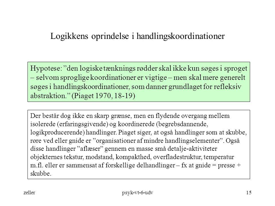 Logikkens oprindelse i handlingskoordinationer