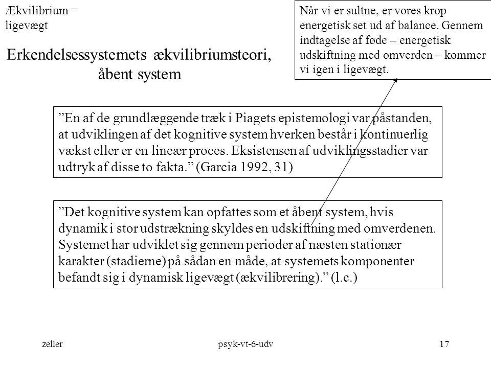 Erkendelsessystemets ækvilibriumsteori, åbent system
