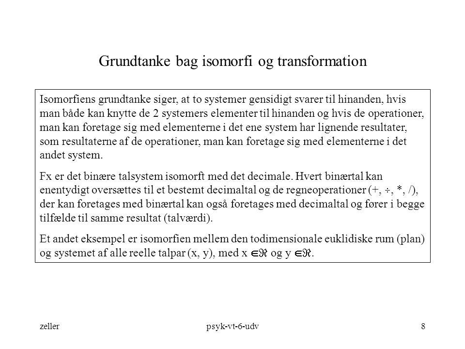 Grundtanke bag isomorfi og transformation