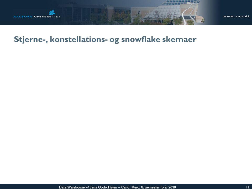 Stjerne-, konstellations- og snowflake skemaer