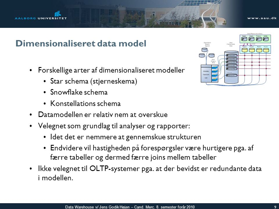 Dimensionaliseret data model