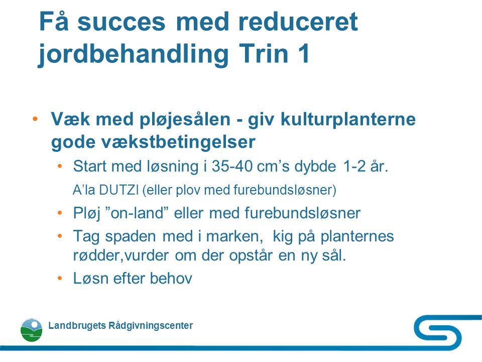 Få succes med reduceret jordbehandling Trin 1