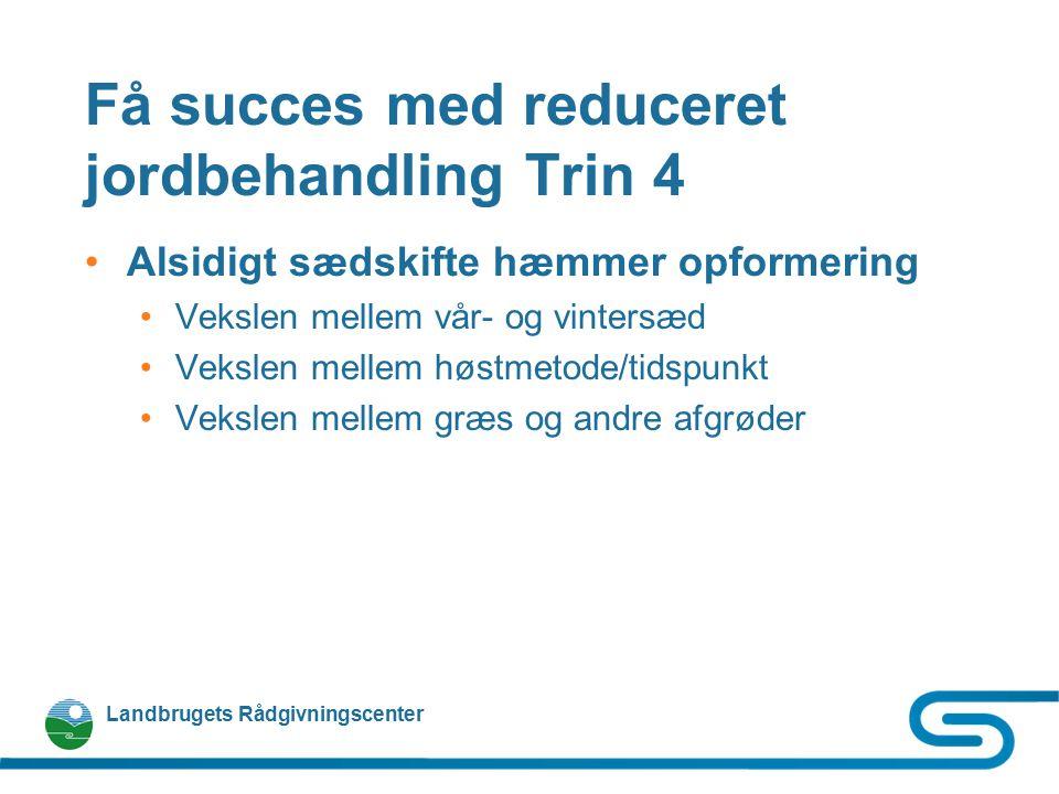 Få succes med reduceret jordbehandling Trin 4