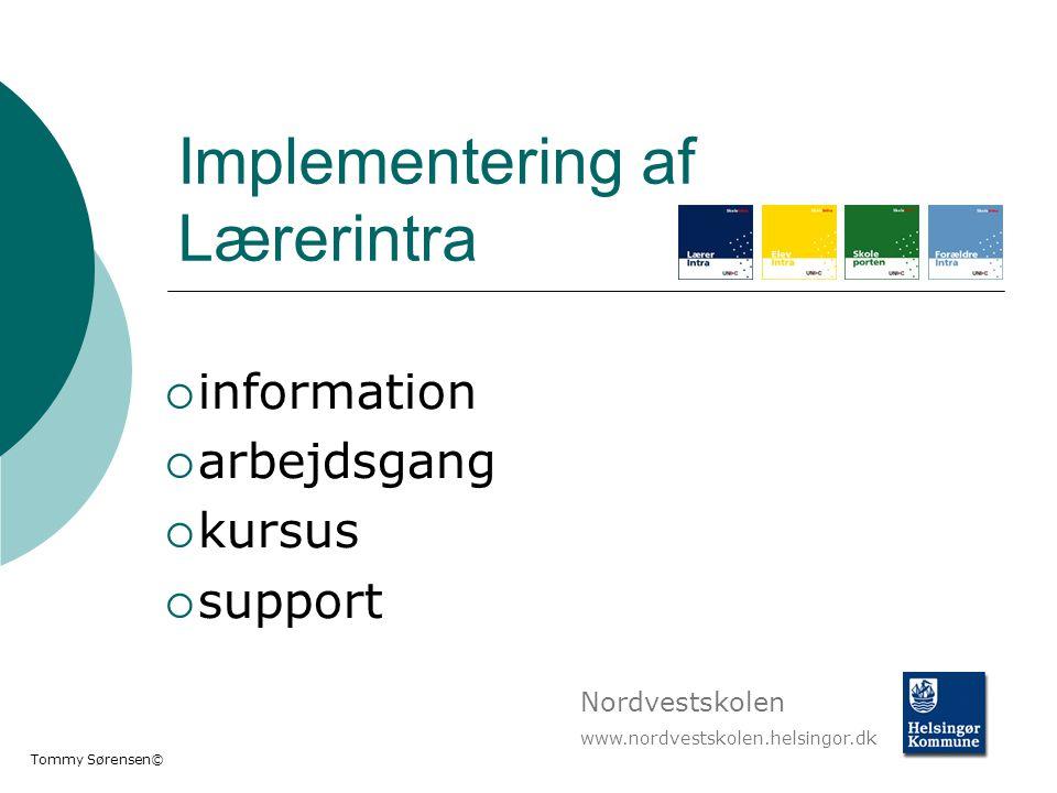 Implementering af Lærerintra