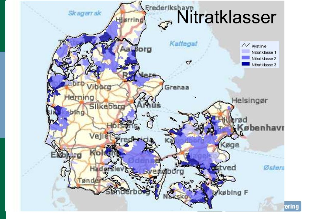 Nitratklasser Nitratklasse Andel af areal % Reduktion af belægning 1 6