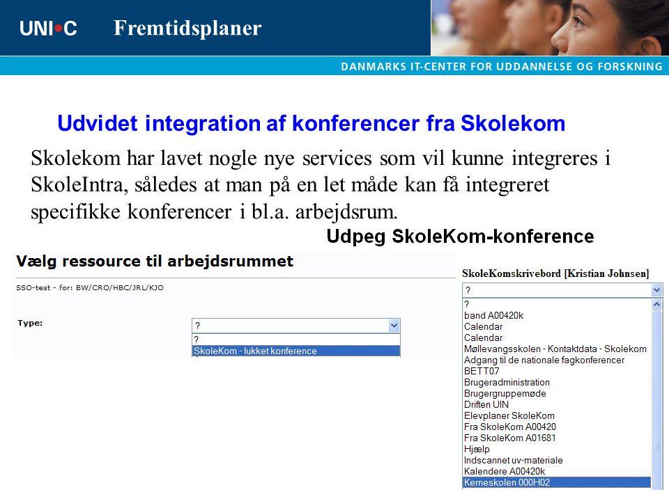 Udvidet integration af konferencer fra Skolekom