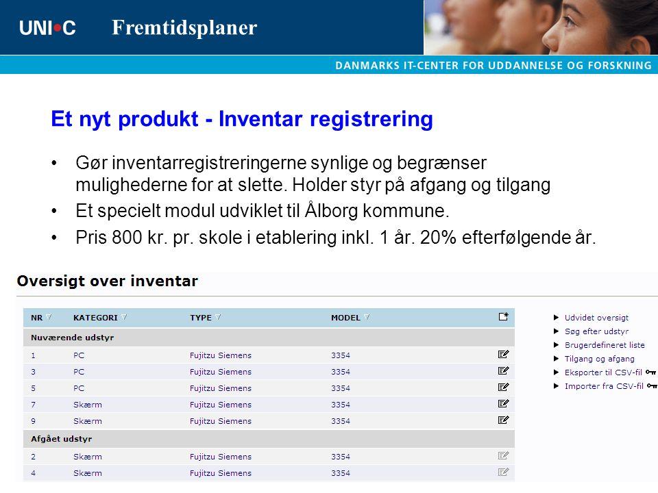 Et nyt produkt - Inventar registrering