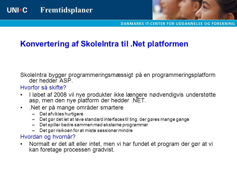 Konvertering af SkoleIntra til .Net platformen