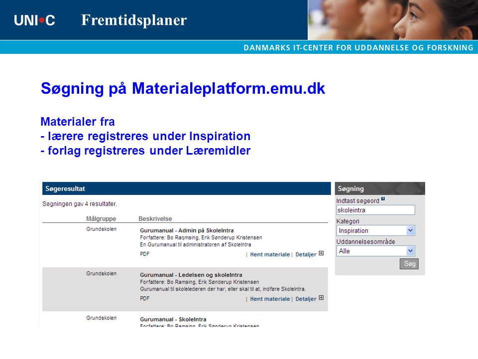 Søgning på Materialeplatform.emu.dk