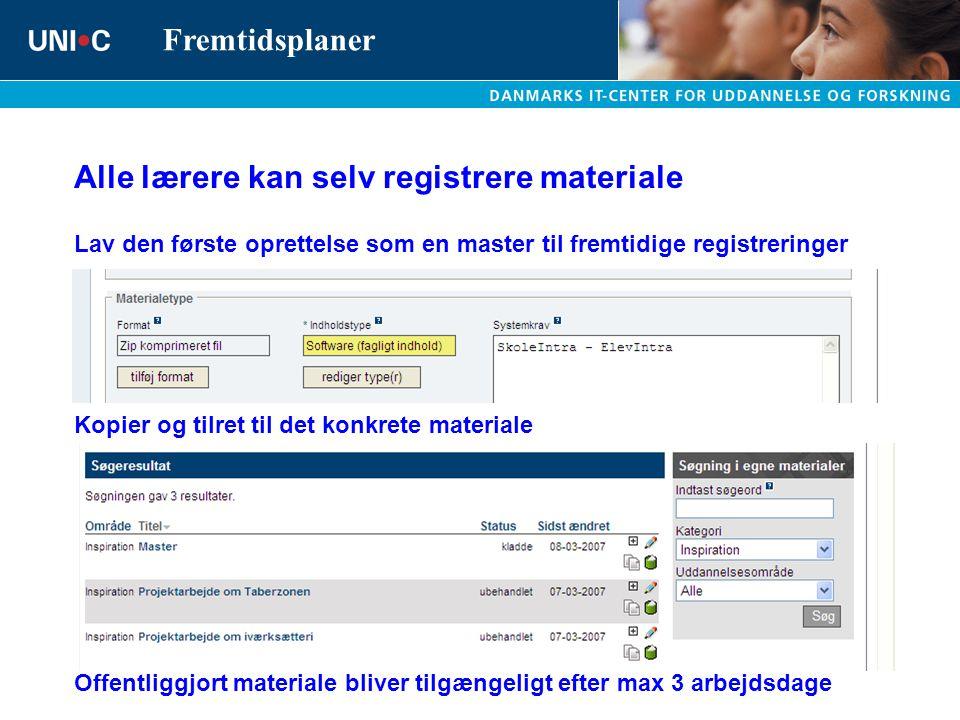 Alle lærere kan selv registrere materiale