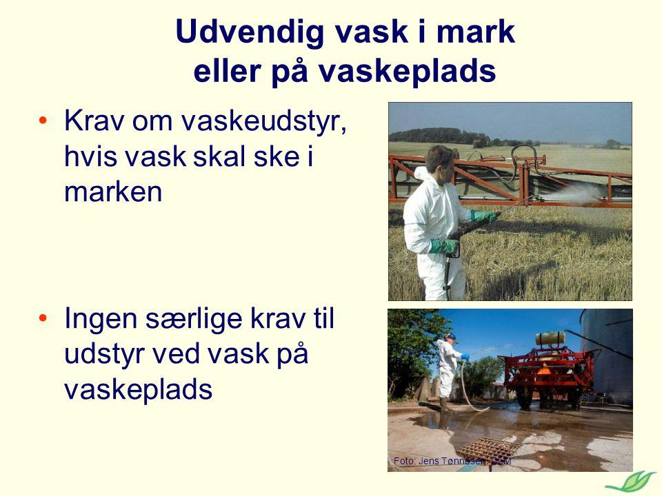 Udvendig vask i mark eller på vaskeplads