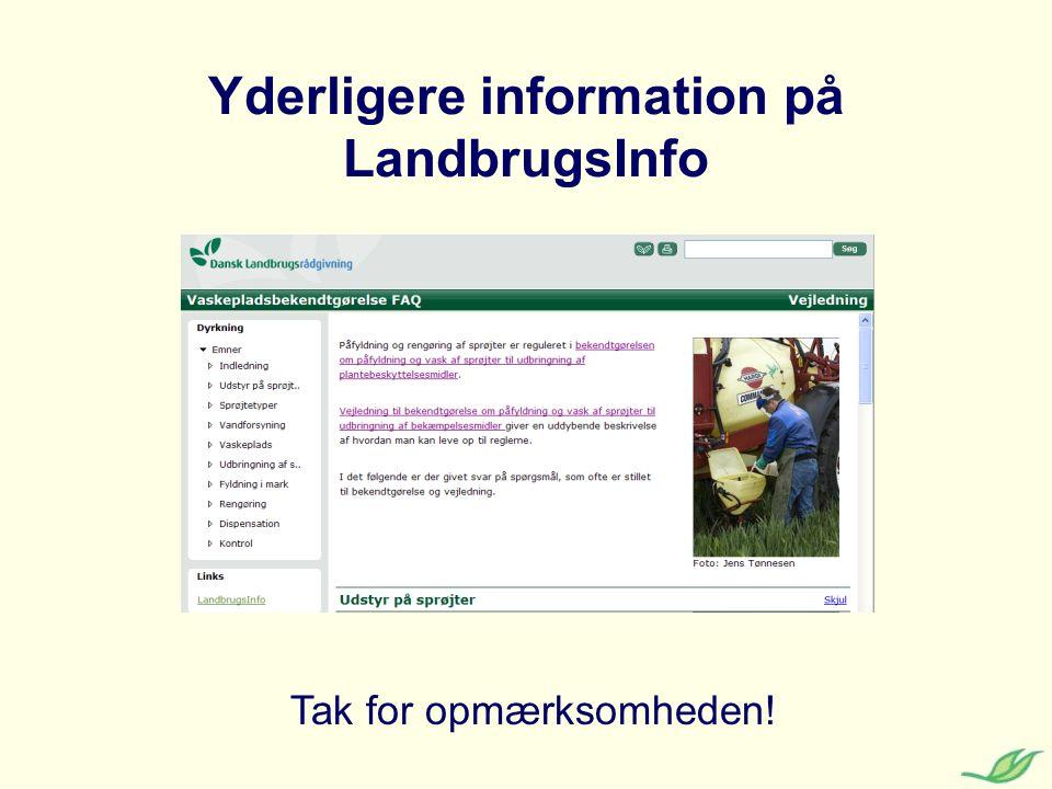 Yderligere information på LandbrugsInfo