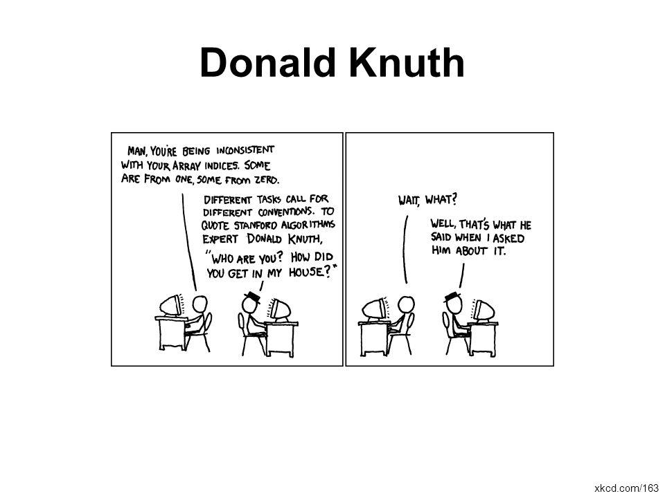 Donald Knuth xkcd.com/163