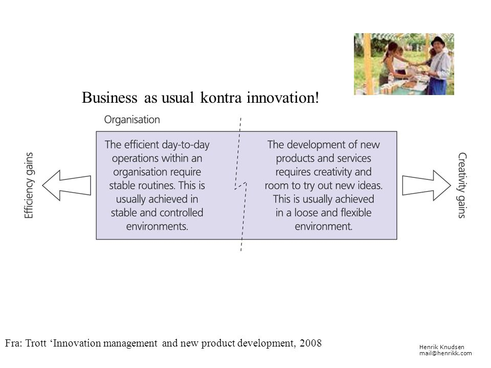 Business as usual kontra innovation!