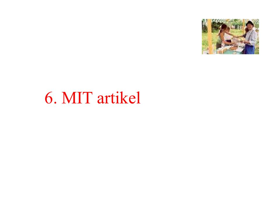 6. MIT artikel